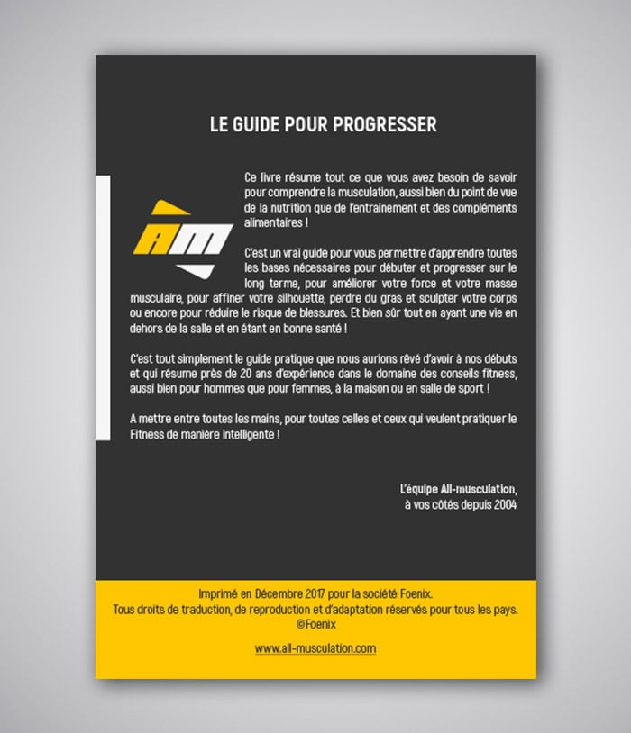 Le guide pour progresser en musculation par all musculation for Guide musculation